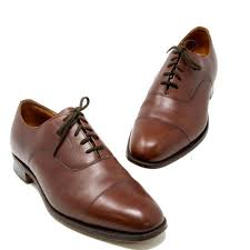 smooth leather lace up dress shoes