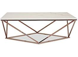 55 rose gold coffee table modern rnd