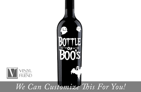 Bottle Of Boos Label Halloween Decor For Liquor And Beer Glass Bottles A Glass Decor Vinyl Decal Lettering With Ghosts 2411