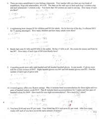 equations elimination method worksheet