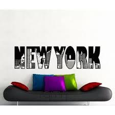 New York China New York Word Logo Wall Sticker Model Ny City Buildings Skyline Vinyl Decal Home