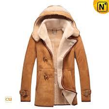 men sheepskin leather fur jacket with