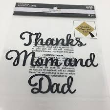 Thanks Mom And Dad Class Of Graduation Cap Stickers Quote Decal Scrapbooking Ebay