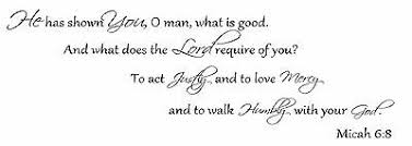 He Has Shown You O Man Micah 6 8 Vinyl Wall Decal Stickers Decor Letters Art Ebay