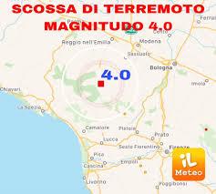 TERREMOTO » scossa 4.0° Richter in provincia di Reggio Emilia » ILMETEO.it