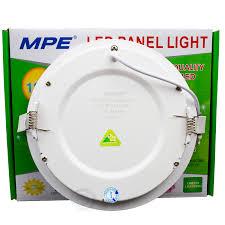 Đèn LED âm trần Panel 1 chế độ màu 12W MPE