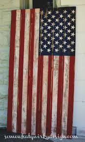 Somewhat Quirky How To Make An American Flag Pallet Crafts Wooden Flag Wood Flag