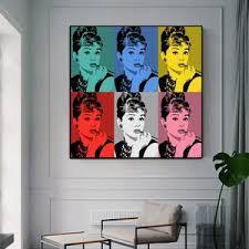 Audrey Hepburn Various Pop Art Paintings By Andy Warhol Gallery Wallrus Free Worldwide Shipping