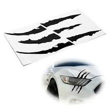 Reflective Black Headlight Eye Scar Claw Scratch Shape Vinyl Decal Set For Car Ebay