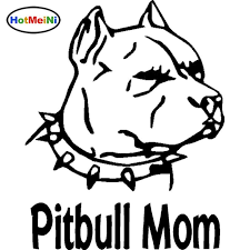 2020 Wholesale Car Accessories Pitbull Mom With Spiked Collar Vinyl Dog Pet Animals Car Sticker Decals From Zhangmin771215 22 12 Dhgate Com