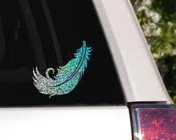 Feather Car Decal Etsy