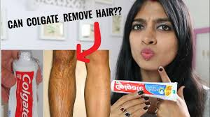 remove hair with toothpaste