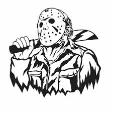 Jason Voorhees Villain Svg Jason Voorhees Halloween Svg Svg Dxf Eps Pdf Png Cricut Silhouette Cutting File Vector Clipart