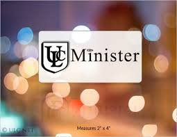 Removable Ulc Minister Window Decal