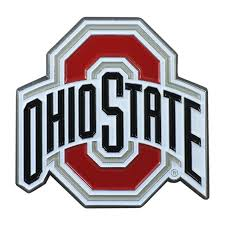 Ohio State University Buckeyes Car Emblem Color Metal Car Logo Decal