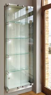 wall fixed glass display cabinets