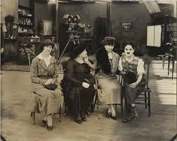 Left to right: Polly Thompson, Anne Sullivan, Helen Keller ...