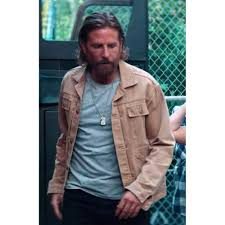 Jackson Maine A Star Is Born Bradley Cooper Cotton Brown Jacket