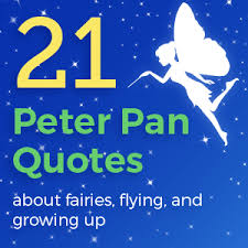 peter pan quotes about fairies flying and growing up