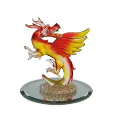 glass blown dragon figurines