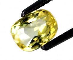 yellow sapphire ceylon cushion cut