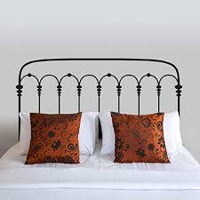 Amazon Com Digtour Wallart Headboard Wall Decal Vinyl Headboard Decor Headboard Wall Sticker Metal Bed Frame Bedpost Bedroom Art Decoration X Large Dark Brown Kitchen Dining