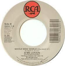 Follow my heartbeat / whole wide world by A'Me Lorain, 7inch x 1 ...