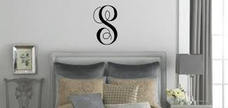 Initial Wall Decal Vinyl Single Letter Monogram Wall Decal Sticker Choose Your Initial And Color By Announce It Catch My Party