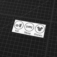 Eat Sleep Disney Vinyl Decal The Stickermart