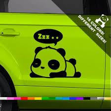 Panda Car Vinyl Decal Cute Panda Window Or Bumper Sticker Etsy