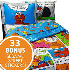 sesame street full bedding and wall