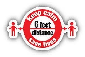 Keep Calm Social Distance Virus Vinyl Sticker Car Bumper Decal Sizes Ebay