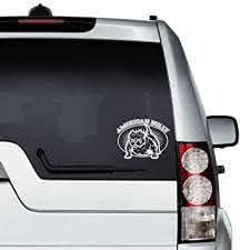 Amazon Com American Bully Pitbull Dog Auto Sticker Vinyl Car Decal Decor For Window Bumper Laptop Walls Computer Thmbler Mug Cup Phone Truck Car Accessories Baby