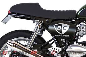 british customs cafe racer seat for