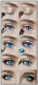blue eyes makeup tutorial for