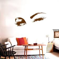 Wall Decal Beautiful Charming Eyes Lashes Wink Decor Wall Art Mural Vinyl Decal Stickers Interior Design Bedroom Sticker Leather Bag