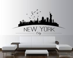 New York Skyline Wall Sticker Bedroom Lounge Wall Art Decal Removable Mural Modern City Picture Design Stickers For Rooms Stickers For The Wall From Joystickers 8 96 Dhgate Com