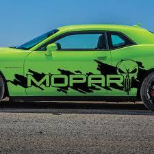 Dodge Challenger Side Punisher Mopar Splash Grunge Logo Vinyl Decal Graphic Mopars Com