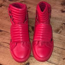 aldo shoes jarren red high top