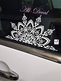 Amazon Com Mandala Car Decal Mandala Sticker Mandala Vinyl Decal Sticker Flower Decal Handmade