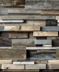 Gold Horizontal Wood Brown Faux Wall Embossed Wallpaper Departments Diy At B Q