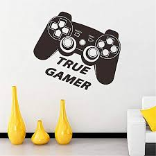 Decorate Life True Gamer And Controller Wall Decal Sticker Art Vinyl Decor Removable Pvc Decoration For Playroom Game Room Bedroom Kids 5751cm Educational Toys Planet