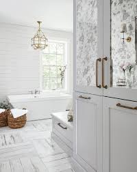 antiqued mirrored bath linen cabinets