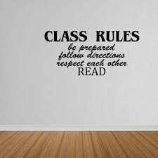 Wall Decal Quote Class Rules Vinyl Wall Art Decal Quote Classroom Teacher Dp334 Walmart Com Walmart Com