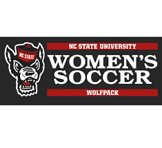 Nc State Wolfpack Wolfhead Women S Soccer Vinyl Decal Red And White Shop