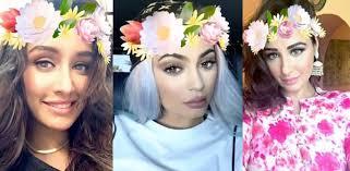 flower crown filter craze on snapchat