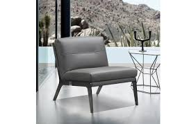 c81 dark gray leather accent chair