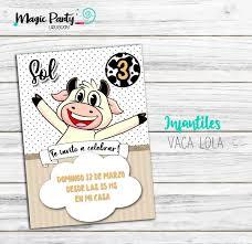 Tarjeta Invitacion Digital Vaca Lola 150 00 En Mercado Libre