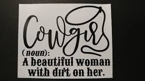 Cowgirl Decal For Car Window Water Bottle Lap Top And More