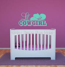 Lil Cowgirl Western With Hat Wall Decals Quotes Vinyl Sticker Wall Words